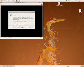 Windows XP VMPlayer on Ubuntu select copied