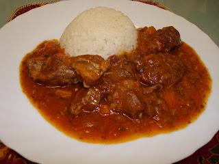 carrilleras galtas cerdo salsa arroz