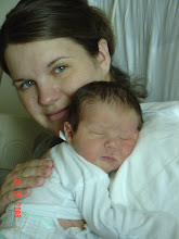 Katy and Kaden... What a sweet little newborn
