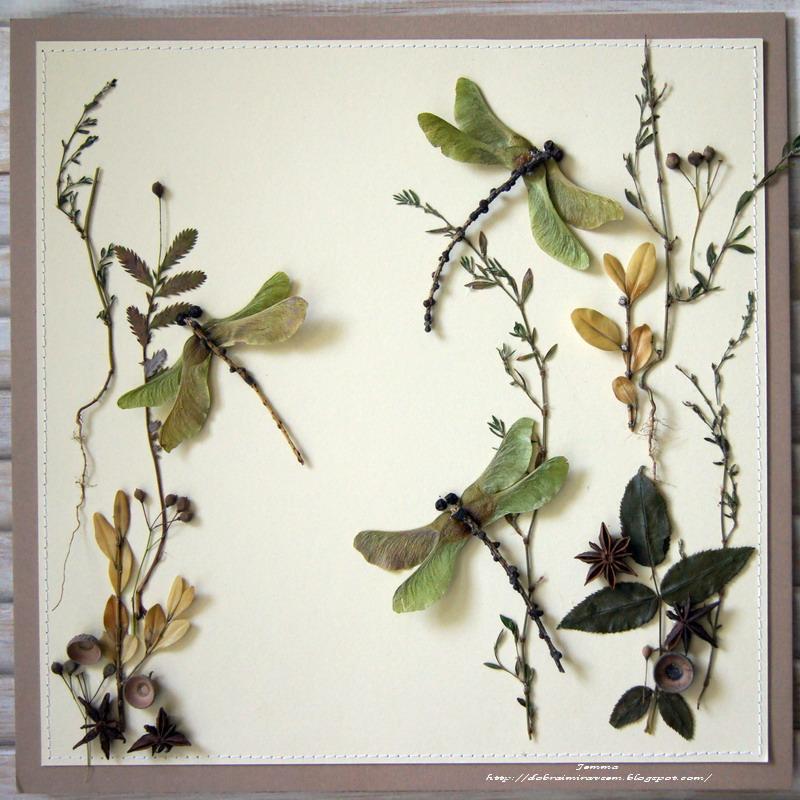 Панно из природных материалов осень
