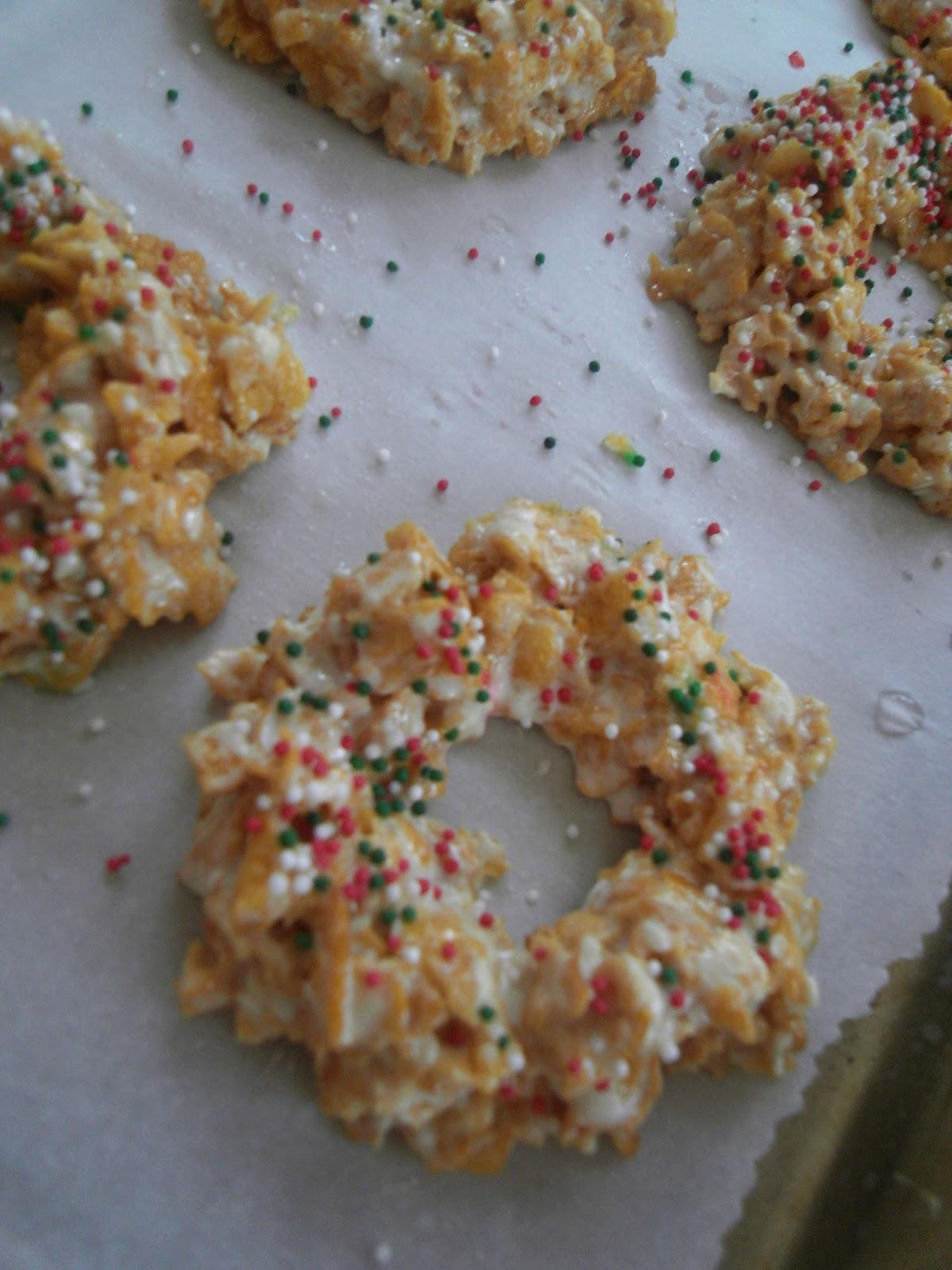 Caramels Bonbons Et Chocolats Nigella S Christmas Cornflake Wreaths