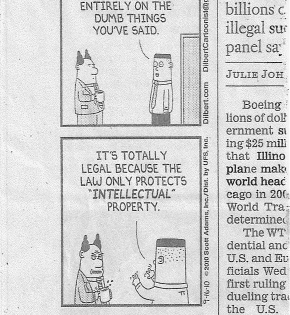 "Intellectual Property Patent: TrademarkEsq: ""Intellectual Property"" According To DILBERT"