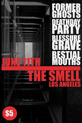 Deathday Party, Former Ghosts, Blessure Grave, Bestial Mouths at The Smell