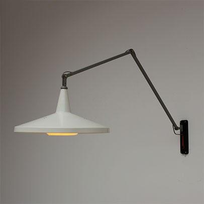 Wim Rietveld Panama Lamp Industrial Design Swing Lamp 1950s