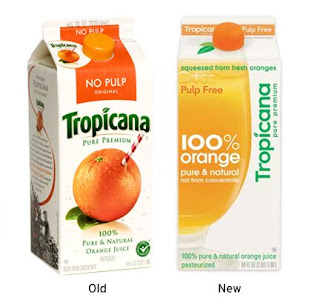 Tropicana packaging, Old and New