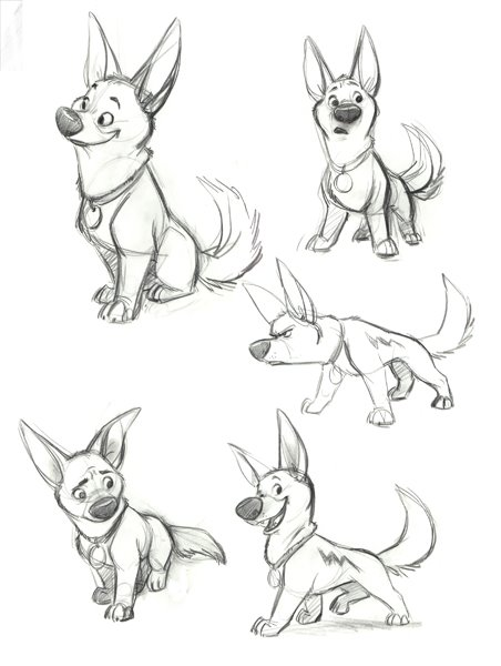 Cartoon Animal Character Design : Living lines library bolt concept art
