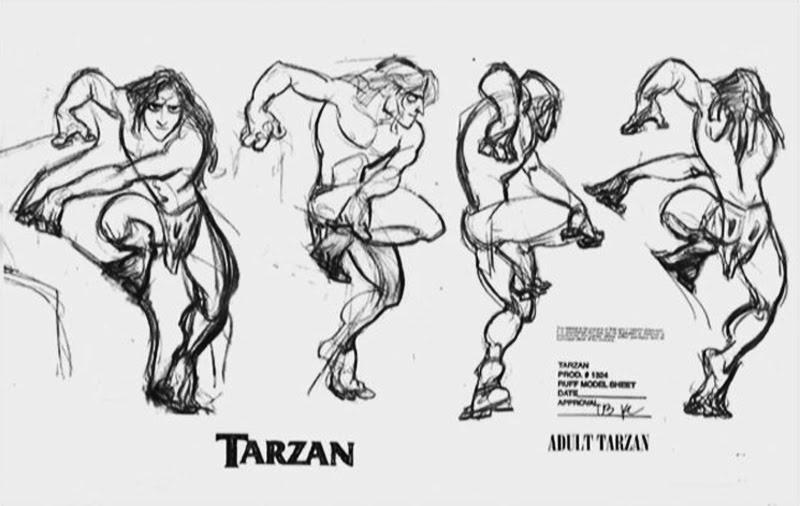 Disney Character Design Tarzan : Living lines library tarzan