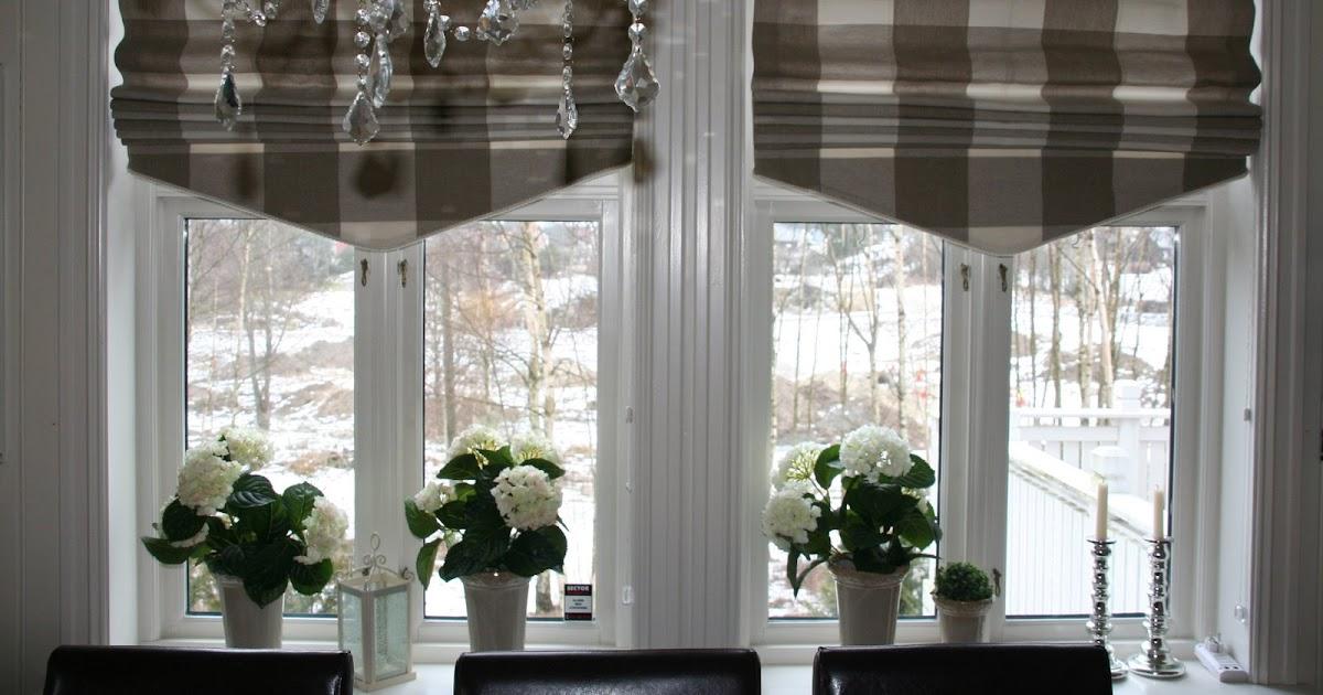 Villa Smaragd: Nye kjøkkengardiner....