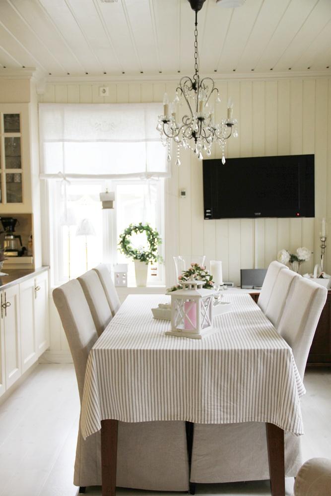 Villa smaragd: nye lampeskjermer, og litt kjøkken :)