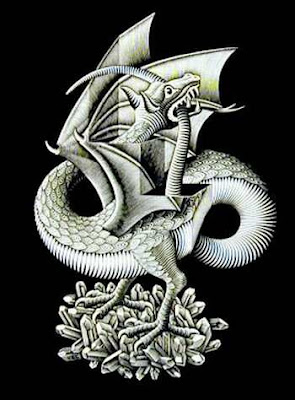 Scary Dragon Optical Illusion