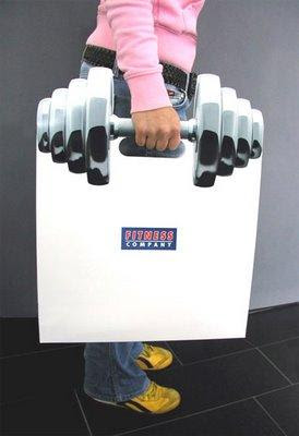 Creative Muscular Hand Bag Illusion