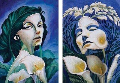 Flower Women Face illusion