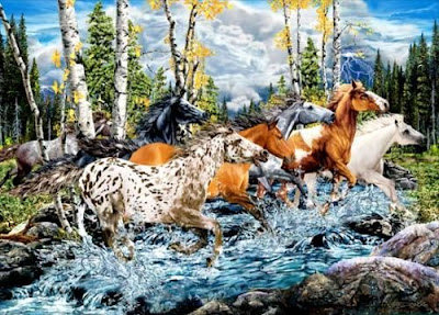 Hidden Horse in Water Illusion