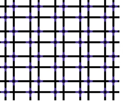 Glowing Grid Illusion