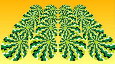 Rotating Watermelons Optical Illusion