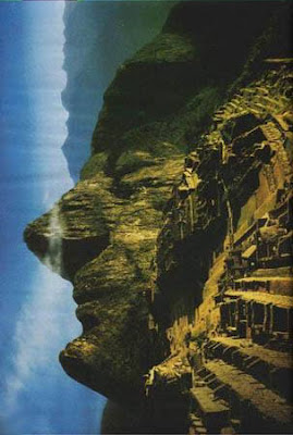 Nature made Face on Mountain Illusion