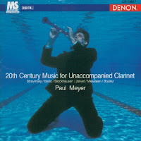 20th Century Music For Unaccompanied Clarinet