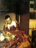 """""""La muchacha dormida"""", Vermeer 1657"""
