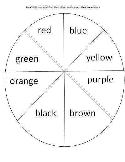 pizza wheel color words activity matching words with colors mrs bucket teacherspayteacherscom