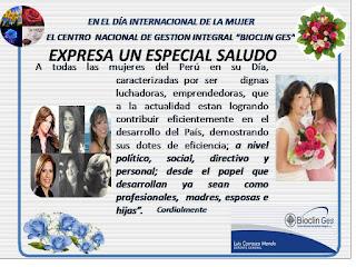 Saludos por el Día Internacional de la Mujer ~ NOS ESCRIBEN