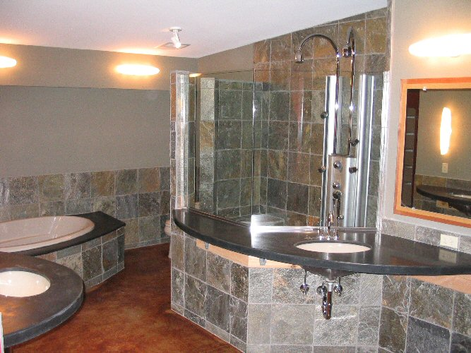 Bathroom ideas slate tile bathroom for Slate tile bathroom ideas