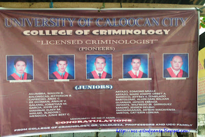 university of caloocan city 2009 crimininology board passers