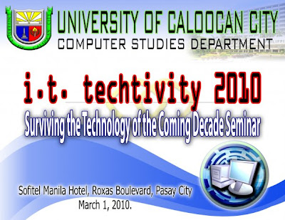 UCC Black Hackers Seminar,University of Caloocan City