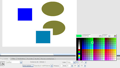 Cambiando color a un Graphic Fig 3 - Flash as3 - Tutorial I - Bases