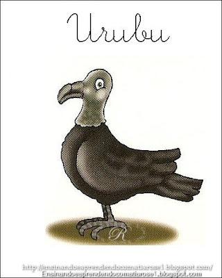 Urubu+1 Alfabeto aprendendo com os animais para crianças