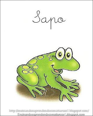 Sapo+1 Alfabeto aprendendo com os animais para crianças