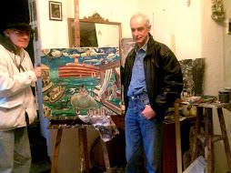 con l,artista roberto anfossi nel suo studio