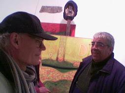 con l,artista mauro focardi nel suo studio atelie