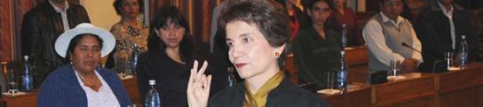 tal como anticipamos Ana María de Romero presidente de los Senadores