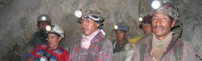cooperativistas mineros de Potosí en emergencia