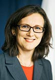 cecilia malmstrom nacida en gotemburgo, 40 años es ministra para la Unión Europea