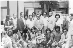 la imagen del personal de Radio Cosmos muestra al desaparecido Alberto Arévalo