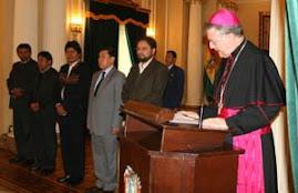 el nuevo nuncio pronuncia discurso como decano del cuerpo diplomático