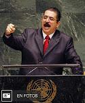 con el apoyo de su auspiciador Hugo Chávez y los grupos