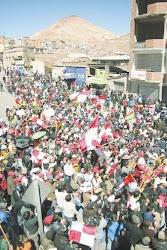 muchedumbre que volvió a expresar el legítimo derecho de Potosí a sus reivindicaciones