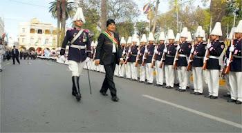 caballeros cadetes del colegio militar en Cochabamba