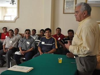 Edwin Tapia un caballero que hace honor al adjetivo vive consagrado a COBOCE obra de Jaime Méndez.