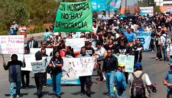 de nuevo protestaron los periodistas en las ciudades de Bolivia contra la opresión