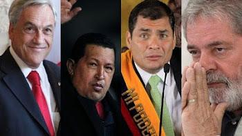 cuatro de los ocho presidentes que le dieron el pésame a Cristina