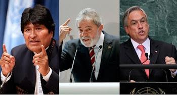 no vienen a Bolivia. lula dijo NO, piñera dijo NO. ninguno explicó porqué