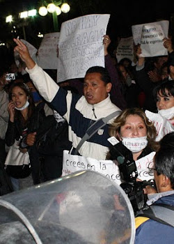 la protesta de los comunicadores en Bolivia ha logrado más de 800 mil adhesiones