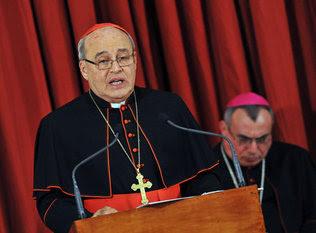 el Cardenal Ortega de Cuba agradece a Fidel y Raúl Castro por el apoyo ofrecido para el Seminario