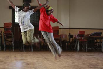 Ugandan Dancers Aloft