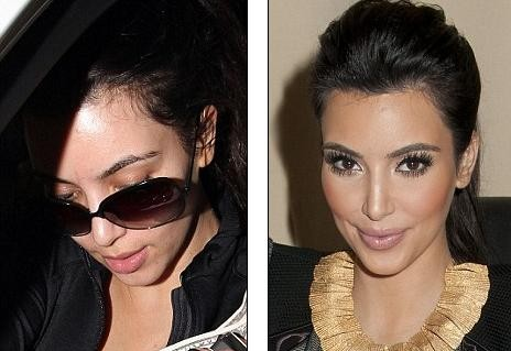 kim kardashian makeup looks 2011. kim kardashian without makeup