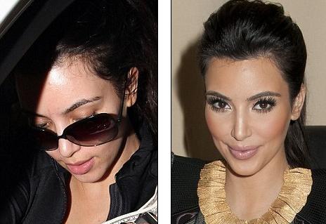kim kardashian makeup and hair. Kim and her makeup artists use