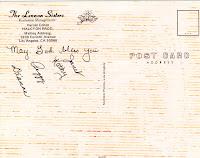 autographed postcard 1970s